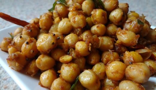 Chickpeas Sundal / Thalimpu Senagalu / Tempered Chickpeas