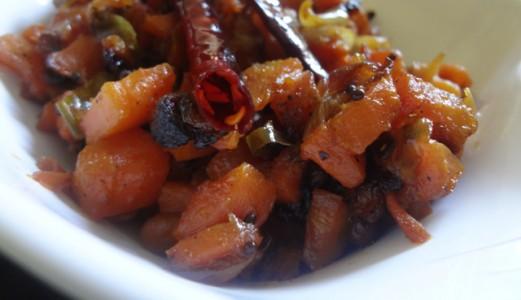 Carrot Vepudu or Carrot Fry