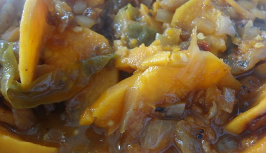 Sweet and Tangy Sweet Potato Stew or Chilakada dumpa Pulusu