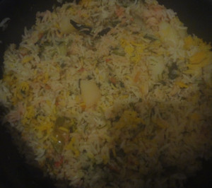 cooking vegetable pulao