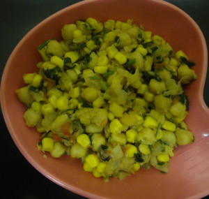 chick pea - sweet corn chat