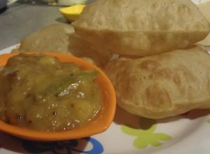 Puri and Potato Curry