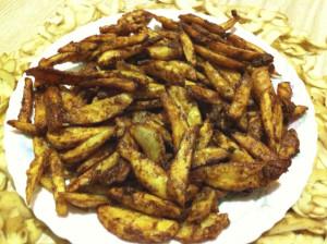 crispy&spicy potato wedges