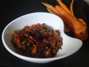 Carrot fry with carrot carving :)