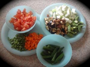 vegetables used to make Bisibella bath