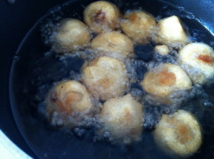 Deep frying Boorelu